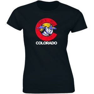 Half It Tops - Colorado Rocky Mountain Sunnest Area Logo T-shirt